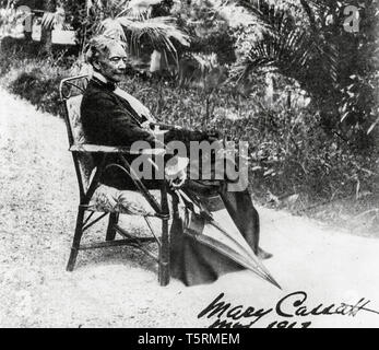 Mary Cassatt (1844-1926), portrait photograph by Paul Durand Ruel, 1913 - Stock Image