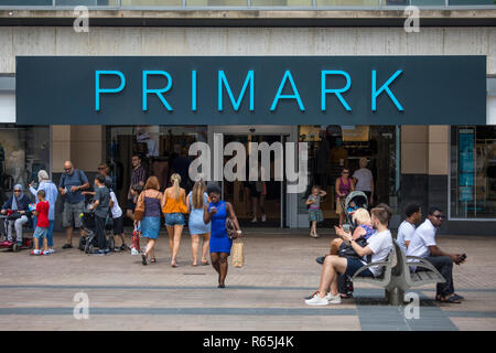 COVENTRY, UK - JULY 26TH 2018: The Primark store in Coventry city centre, on 26th July 2018. - Stock Image