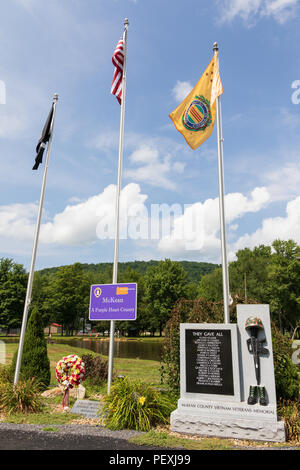 SMETHPORT, PA, USA-11 AUGUST 18: A memorial  to soldiers lost in the Vietnam war stands in Hamlin Park. - Stock Image