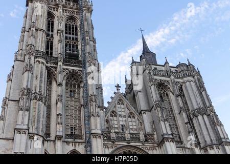 Cathedral Facade Antwerp Belgium - Stock Image