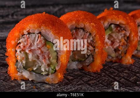 sushi closeup detail - Stock Image