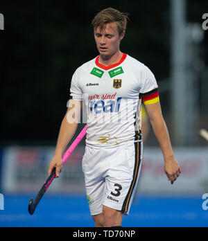 Krefeld, Germany, 12.06.2019, Hockey, FIH Pro League, men, Germany vs. Belgium: Mats Grambusch (Germany) looks on. - Stock Image