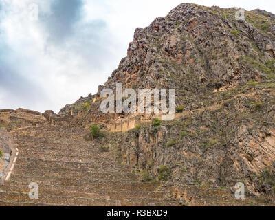 Views of the Ollantaytambo Sanctuary - Stock Image