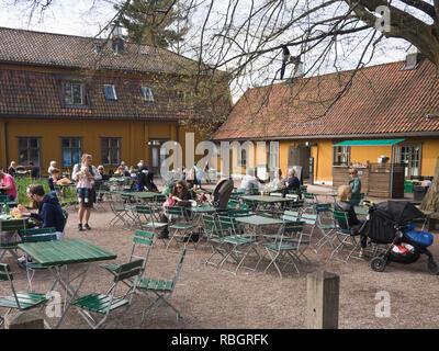 A coffee break in the cafe located in Tøyen god in the Botanical garden in Oslo Norway - Stock Image