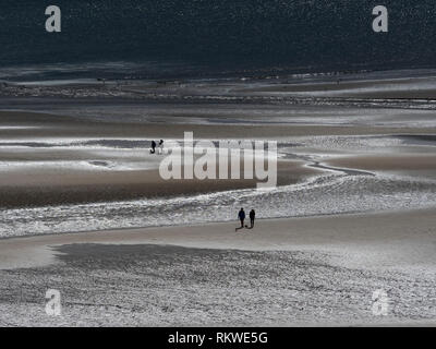 View of the beach at Alnmouth in Northumberland. - Stock Image
