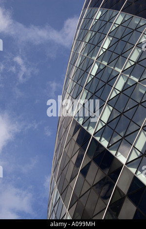 Closeup Swiss Re Tower London - Stock Image