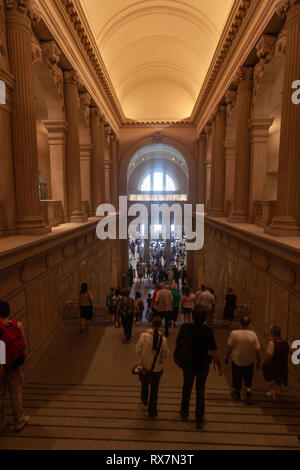 Stairs to the Great Hall in the Metropolitan Museum of Art, Manhattan, New York USA - Stock Image
