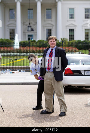 Environmental activists and protesters arrested for civil disobedience in front of the White House - Washington, DC USA - Stock Image