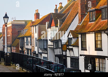 All Saint's Street, Hastings Old Town. East Sussex., UK - Stock Image