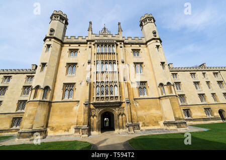 New Court central block and doorway giving access to Crips Building St John College Cambridge 2019 - Stock Image