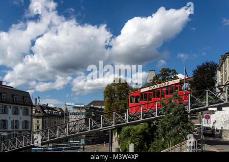 Polybahn at Central, Zurich, Switzerland - Stock Image