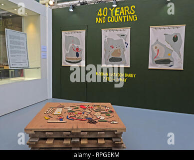 40 Years and Counting, Megham Graydon Darby, Manchester Craft Village, North West England, UK, M4 5JD - Stock Image