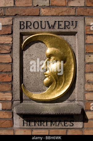 Brewery De Halve Maan, also knows as Breweryj Henri Maes, Brughes (Brugge), Belgium. - Stock Image