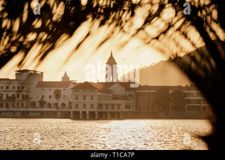 View of Casco Antiguo In Ciudad de Panama At Sunset - Stock Image