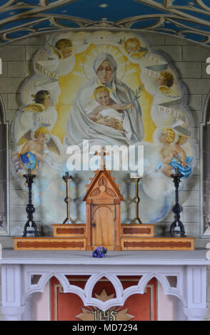 Italian Chapel, Orkney - wall painting - Stock Image