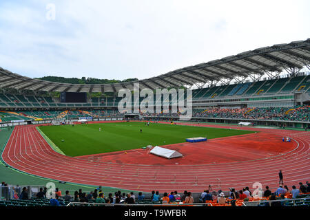 FILE : General view of Shizuoka Stadium Ecopa venue for the Rugby World Cup 2019 which will be held in Japan. Image taken MAY 3, 2018 - Athletics : The 34th Shizuoka International Athletics 2018 at Ecopa Stadium, Shizuoka, Japan. Credit: MATSUO.K/AFLO SPORT/Alamy Live News - Stock Image