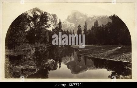 Winter on the Domes, Yosemite, ca 1880, by Carlton Watkins - Stock Image