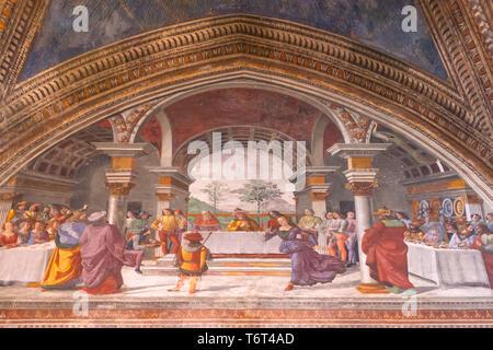 Herod's Banquet, Domenico Ghirlandaio, 1485-1490, Cappella Tornabuoni, Tornabuoni Chapel, Basilica di Santa Maria Novella, Church of Santa Maria Novel - Stock Image