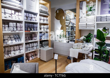 Miami Florida The Shops at Midtown Miami West Elm inside furniture household items furnishings display sale shopping - Stock Image