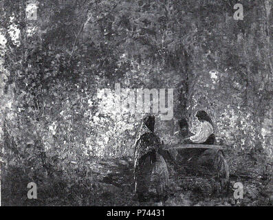 Român: La sfat . Unknown date 4 Arthur Verona - La sfat - Stock Image