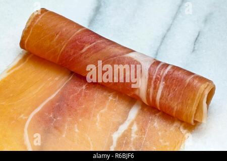 Ham Of Spain Jamon Serrano - Stock Image