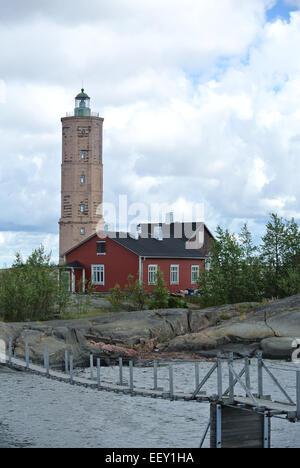 Söderskär and the hanging bridge - Stock Image