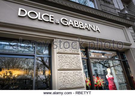 Dolce Gabbana store - Stock Image