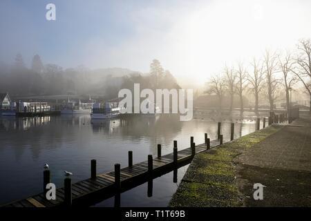 Bowness on Windermere,Promenade,Lake District,Cumbria,England,UK - Stock Image