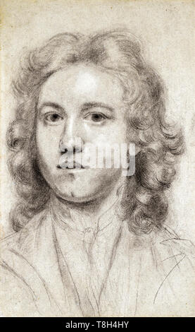 Joshua Reynolds (1723–1792), self portrait aged 17 as a young man, c. 1740 - Stock Image