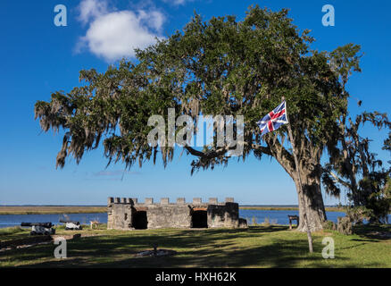 Fort Frederica, St Simons Island, Georgia, USA - Stock Image