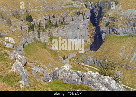 High View onto Garsdale Scar - Stock Image