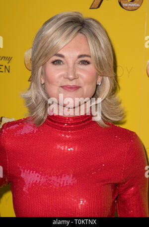 Celebs attend gala evening for Dolly Parton's 9 to 5 The Musical  Featuring: Andrea Turner Where: London, United Kingdom When: 17 Feb 2019 Credit: Phil Lewis/WENN.com - Stock Image