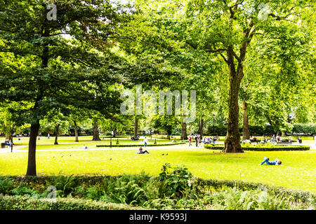 Russell Square London, London borough of Camden, Russell Square London UK, Russell Square park London, Russell Square, - Stock Image