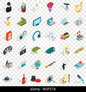 Employment icons set, isometric style - Stock Image