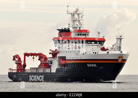 Deepsea-researchvessel Sonne - Stock Image