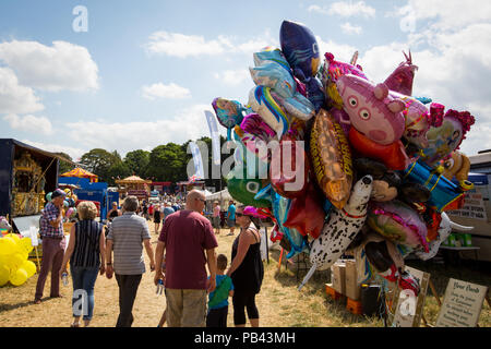 Helium balloons on sale at the 2018 Cheshire Steam Fair - Stock Image