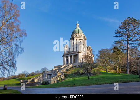 The Ashton Memorial Williamson Park Lancaster Lancashire UK - Stock Image