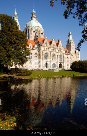Germany, Hannover, new city hall, neues Rathaus - Stock Image