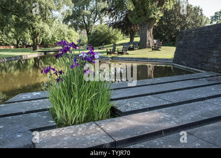 Planten un Blomen (Plants and Flowers), a 166 acre public urban city park  in the new town district of Hamburg, Germany. - Stock Image
