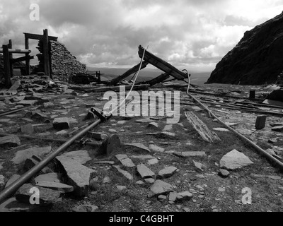 Relics of copper mining on the path up Coniston Old Man in the English Lake District - Stock Image