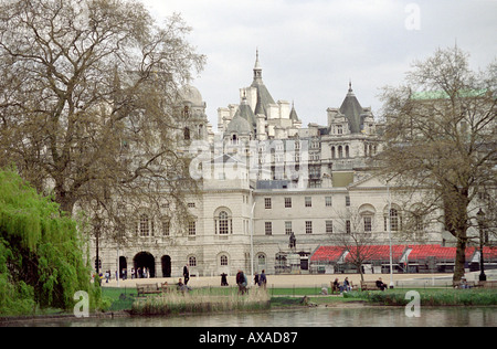 Old Admiralty Buildings Whitehall from St James Park - Stock Image