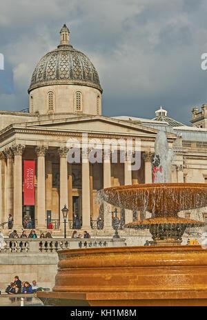 The National Gallery in Trafalgar Square, London - Stock Image