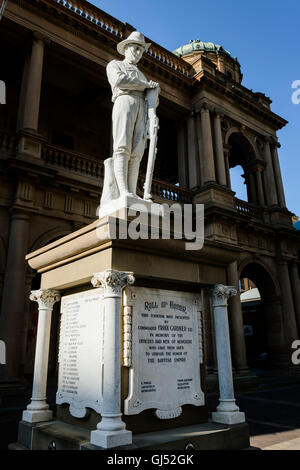 The Great War memorial on Hunter Street in Newcastle, New South Wales, Australia. - Stock Image