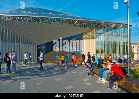Glass Crust, concert Hall, Zaryadye Park, Moscow, Russia - Stock Image
