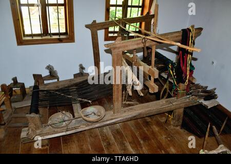 Typical loom - House Museum in SHIPKA. Province of Stara Zagora.BULGARIA - Stock Image