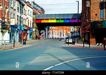 Railway bridge, Call Lane, Leeds, England - Stock Image