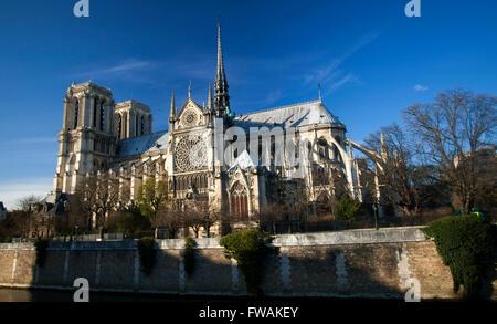 The Cathedral of Notre Dame de Paris, France - Stock Image