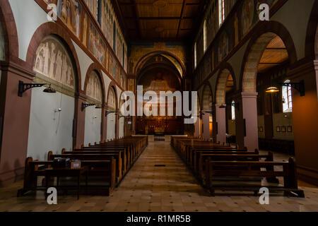 Eibingen Abbey (Abtei St. Hildegard) near Rüdesheim, Germany. - Stock Image