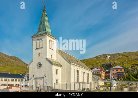 Parish Church At Honningsvag, Norway - Stock Image