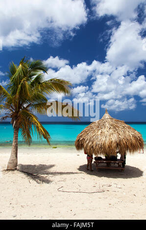 Knip Beach on Curacao - Stock Image
